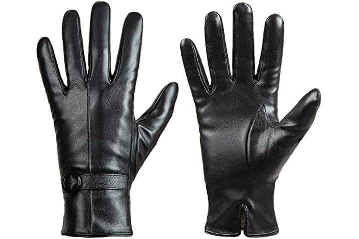 Dsane Women's Winter Driving Lambskin Gloves