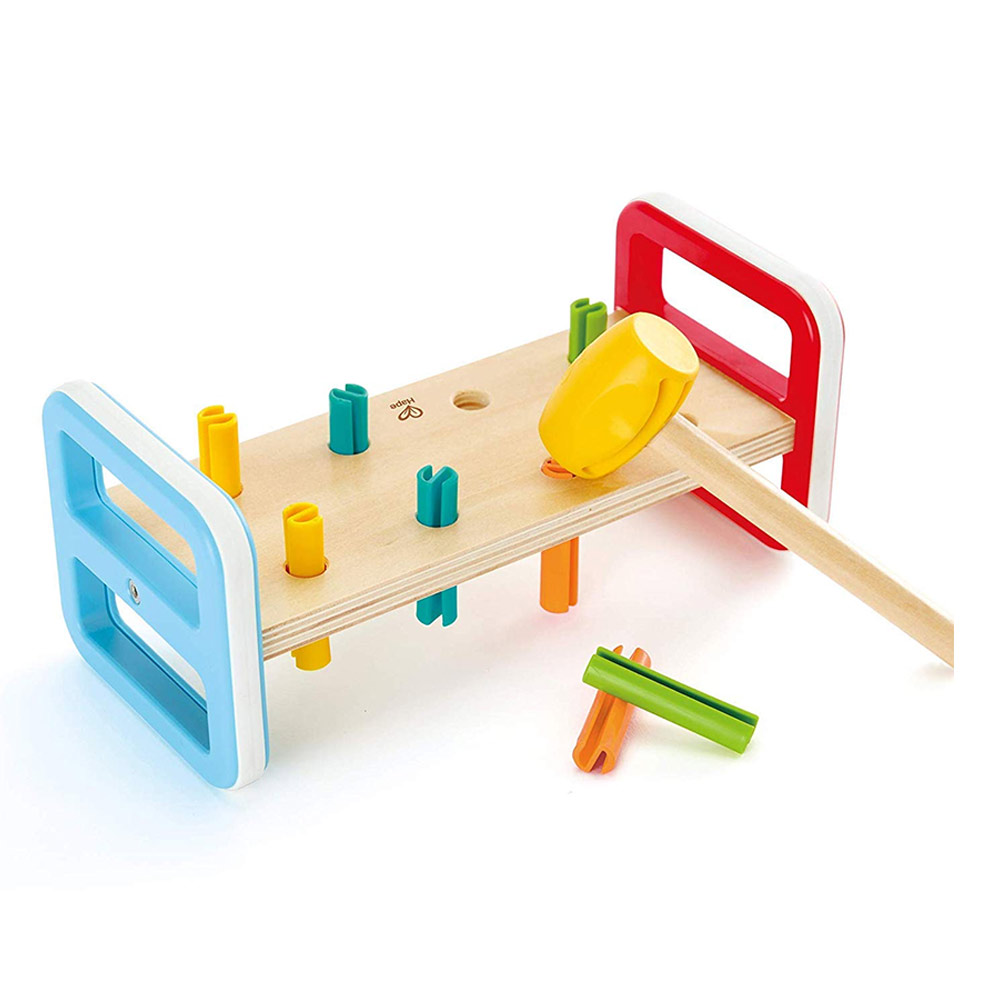EduToys Pounding Bench Wooden Toy with Hammer