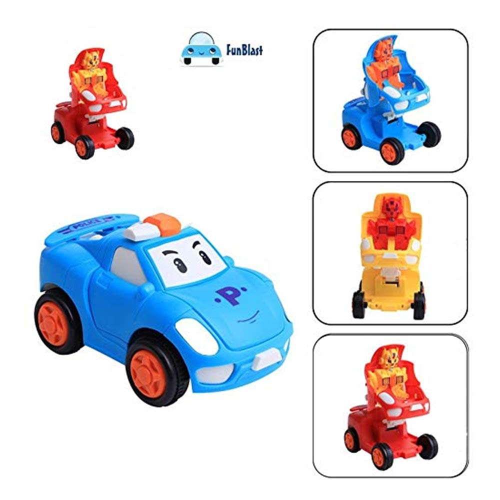 FunBlast Pull Push Back Action Robot Car Toy
