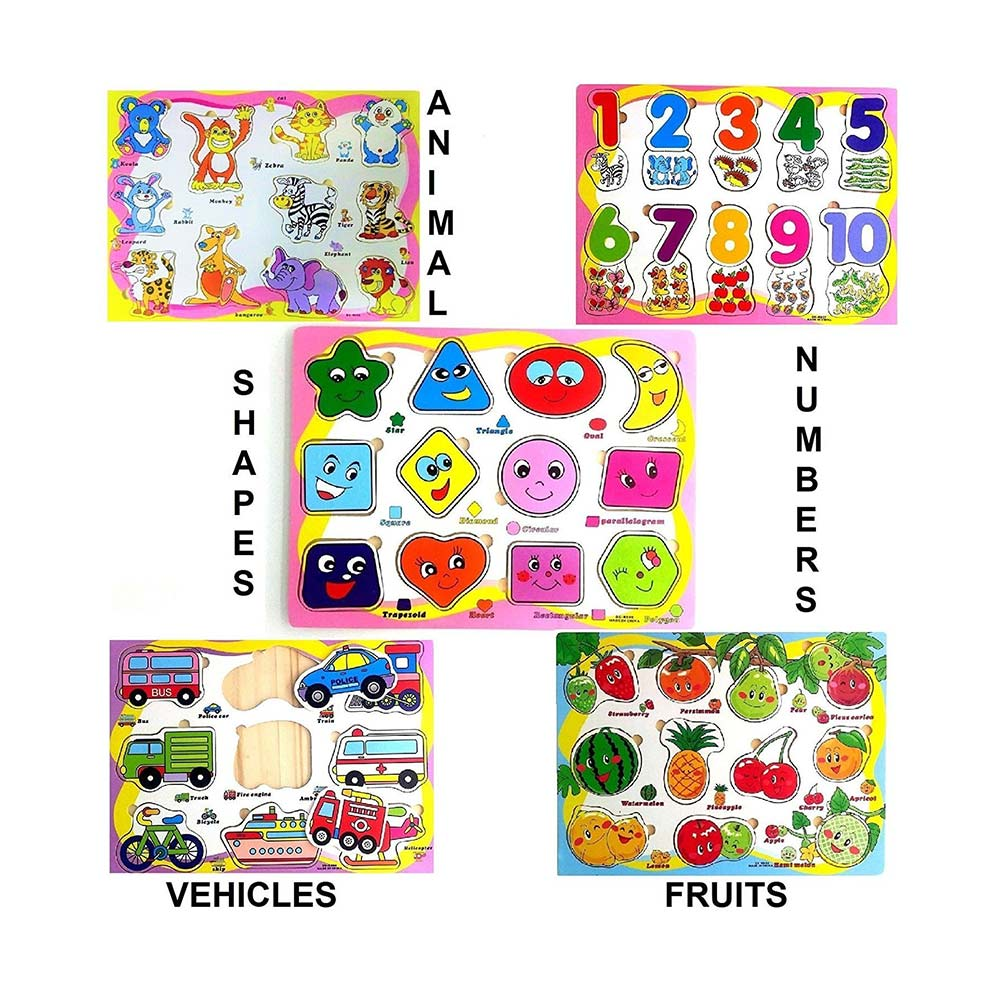FunBlast Wooden Colorful Learning Educational Board for Kids