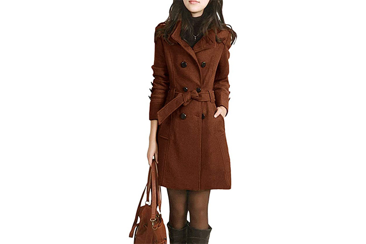 Jenkoon Winter Women's Pea Coat