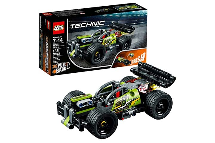 LEGO Technic 42072 Building Kit With Pull Back Toy Stunt Car
