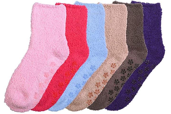 Mamia 6 Pairs Women's Cozy Slipper