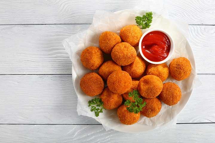 Potato Poha Ball