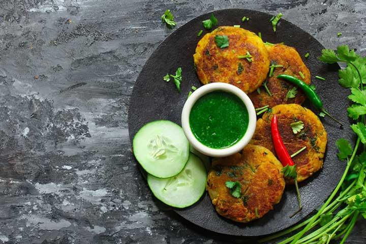 Potato Tikki Chaat
