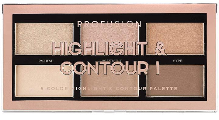 Profusion Cosmetics Mini Artistry Highlight & Contour I Palette - Light Medium