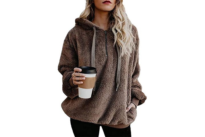 Reachme Oversized Sherpa Pullover