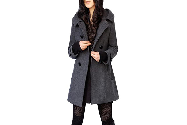 Tanming Women's Winter Pea Coat