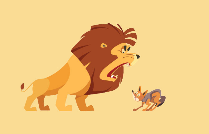 The Lion And The Jackal Story In Hindi
