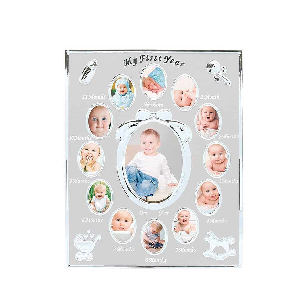 Tiny Ideas Baby's First Year Keepsake Picture Photo Frame