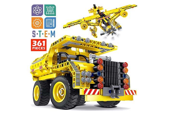 TipTop Toys 361 Pcs Construction Engineering Kit
