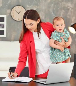 Tips To Work From Home With Kids During Quarantine Banner