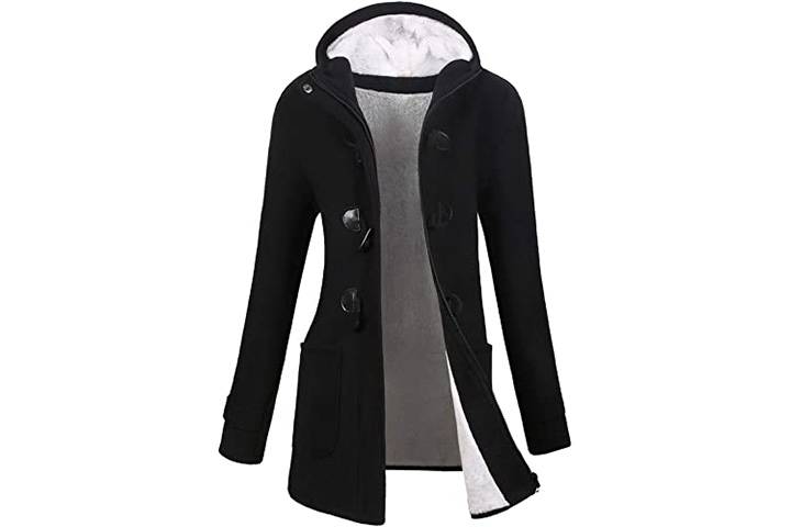 VOGRYE Women's Winter Classic Pea Coat Jacket