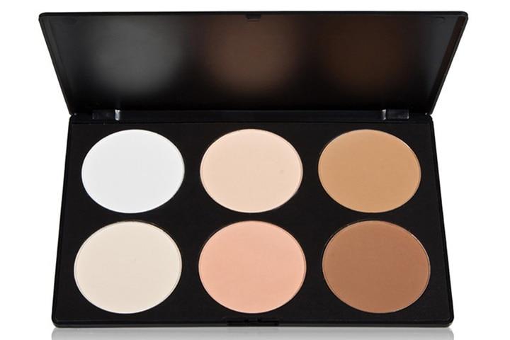 Vodisa 6-Colour Contour Face Powder Kit-Base Foundation Corrector Palette