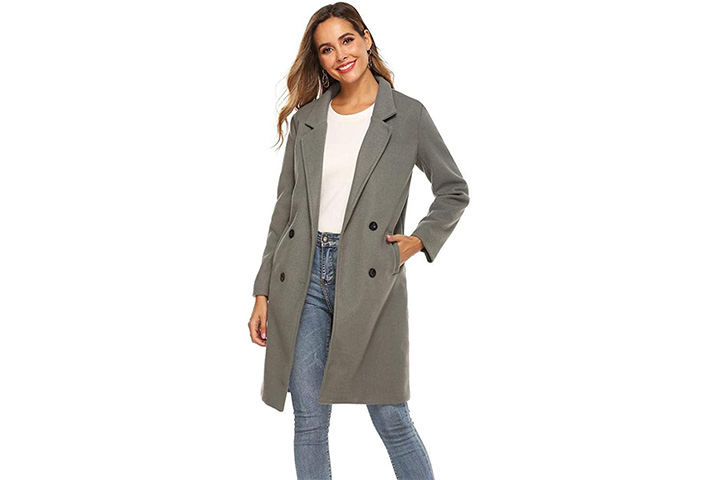 YWV Women's Pea Coat