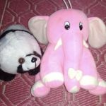 Deals India Panda And Elephant Soft Toy Combo-Panda and teddy bear-By dharanirajesh16