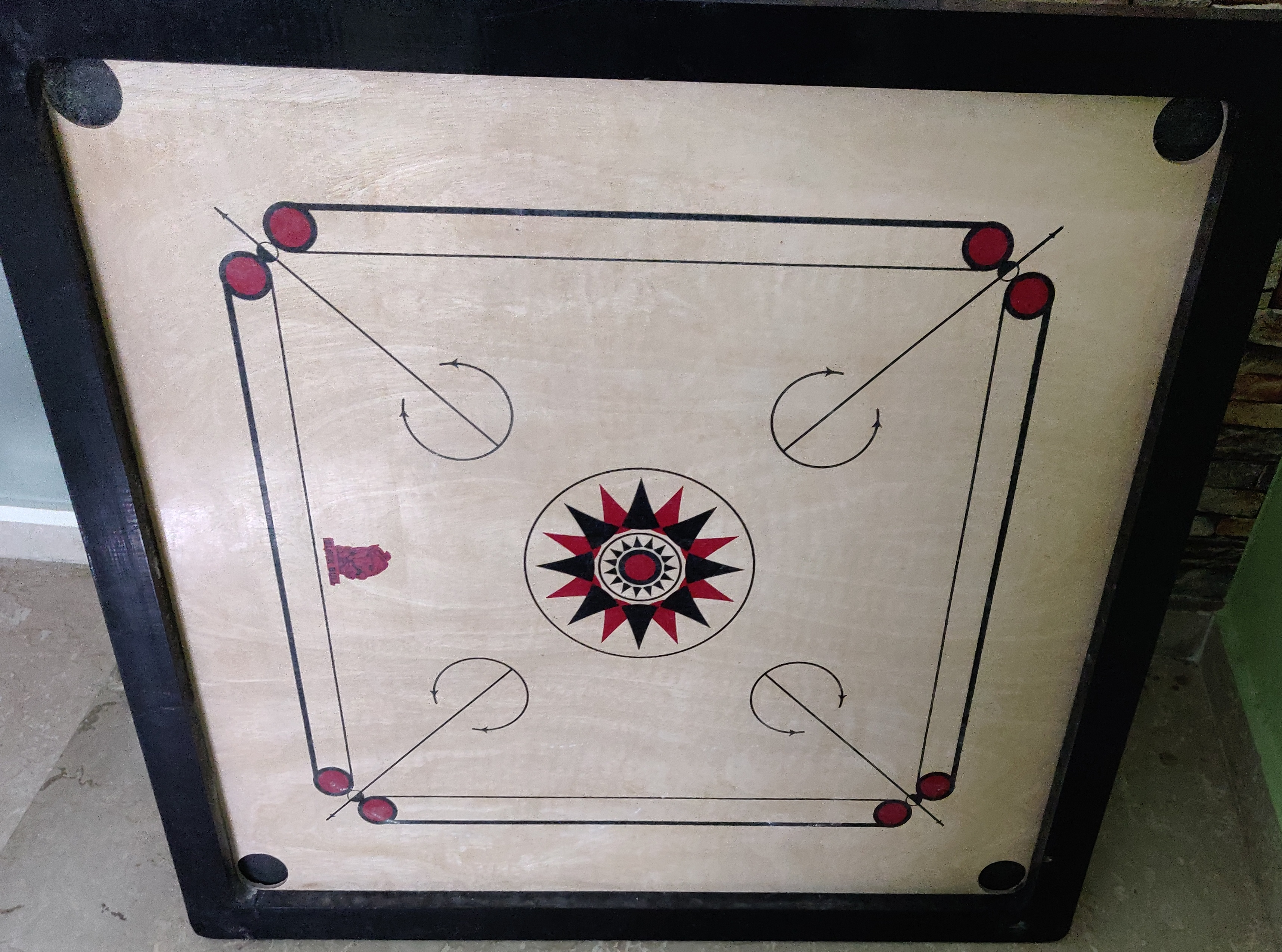 Webby Wooden Carrom Board Brown Beige-Multiplayer game board-By keerthisiva91