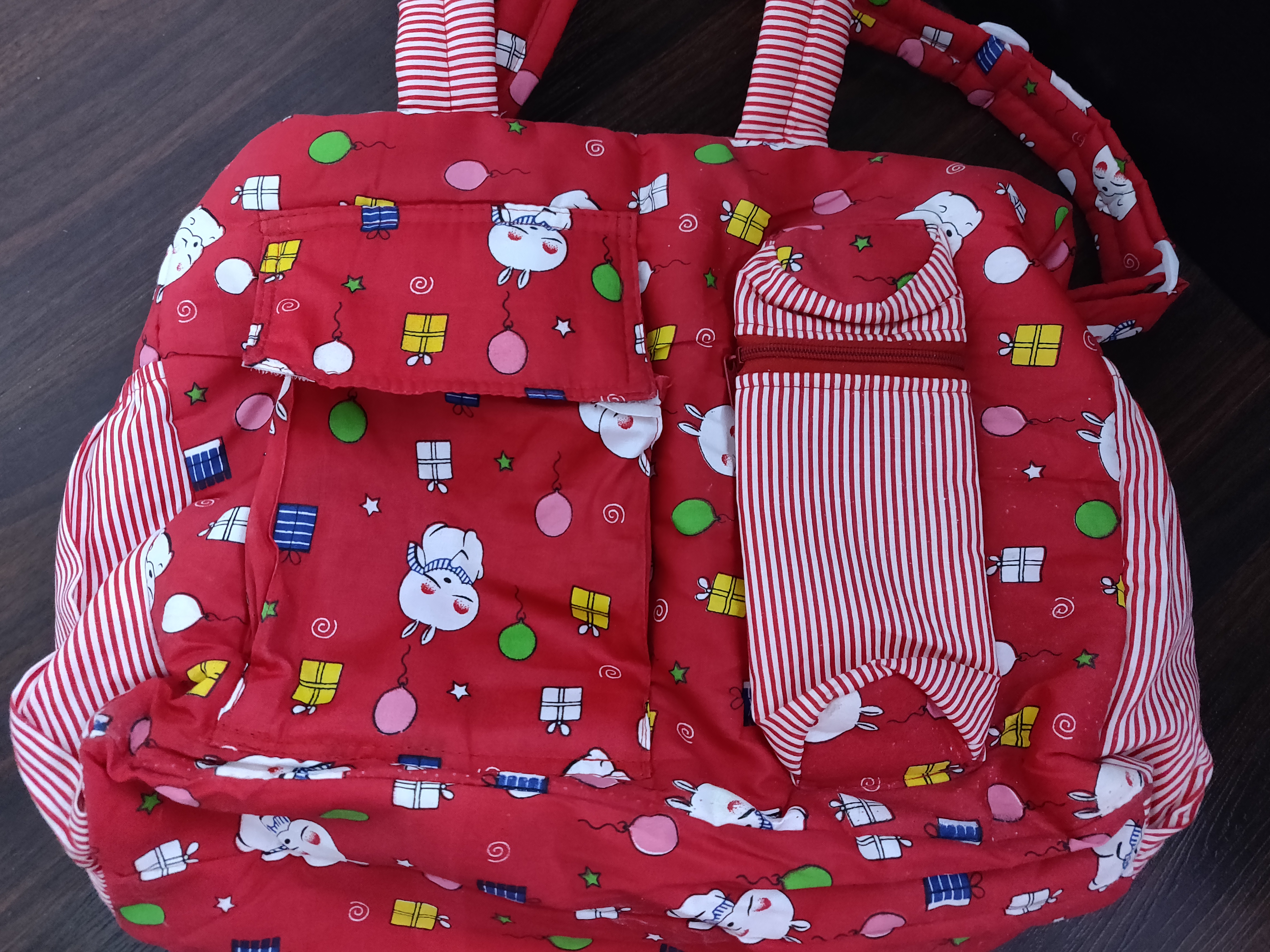 Mee Mee Nursery Bag With Insulated Bottle Holder Multi Print-Convenient bag-By keerthisiva91