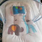 Babyhug Premium Gadda Set With Mosquito Net-Nice gadda-By