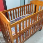 Babyhug Florence Wooden Cot Cum Rocker With Storage Space-Wooden cot-By