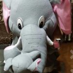 Tickles Mother Elephant With Single Baby Plush Toy-Cute mother elephant-By sameera_pathan