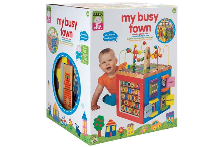 ALEX Toys My Busy Town Wooden Activity Cube