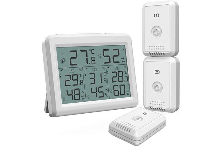 AMIR Indoor-Outdoor Wireless Sensors Thermometer