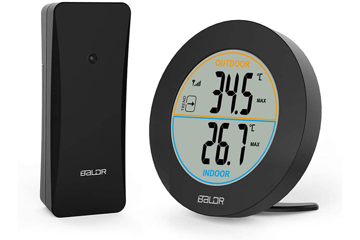 Allnice Wireless Weather Stations Indoor-Outdoor Digital Thermometer