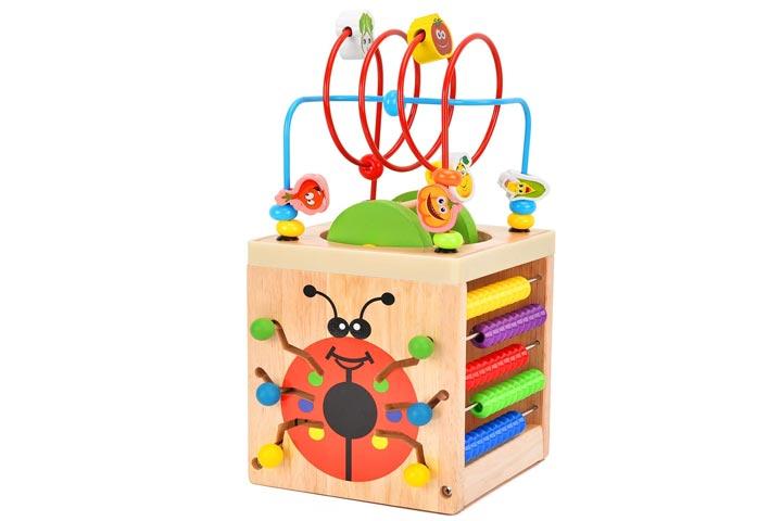 Battop Wooden Activity Cube