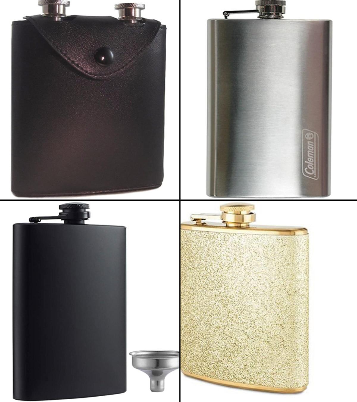 Hip Flask for Liquor Binocktails Ultra Classy Matte Black 7 oz