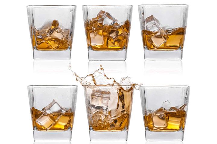 Bourbon Scotch Rum Glasses-8oz Set of 6 - By Jexivi