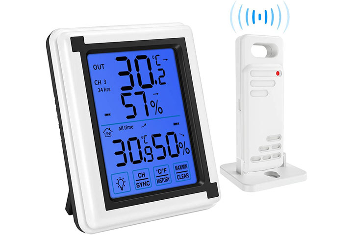 Brifit Indoor-Outdoor Thermometer Humidity Monitor