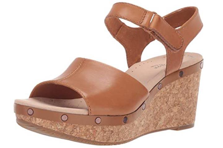 Clarks Womens Annadel Clover Wedge Sandals