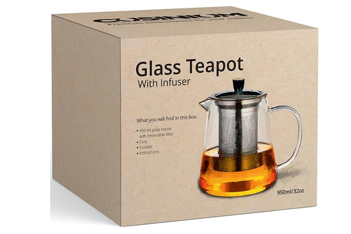 CusiniumStovetop Safe Teapot With Infuser
