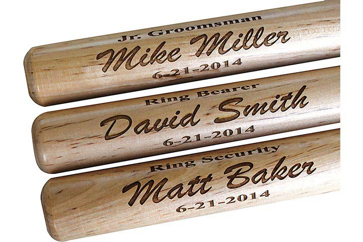 Customized Mini Baseball Bat - Ring Bearer Groomsmen Gift