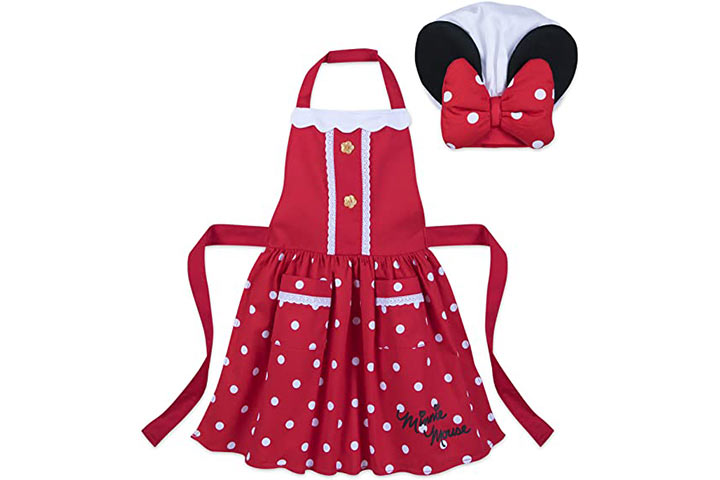 Disney Minnie Mouse Signature Apron And Chef's Hat Set