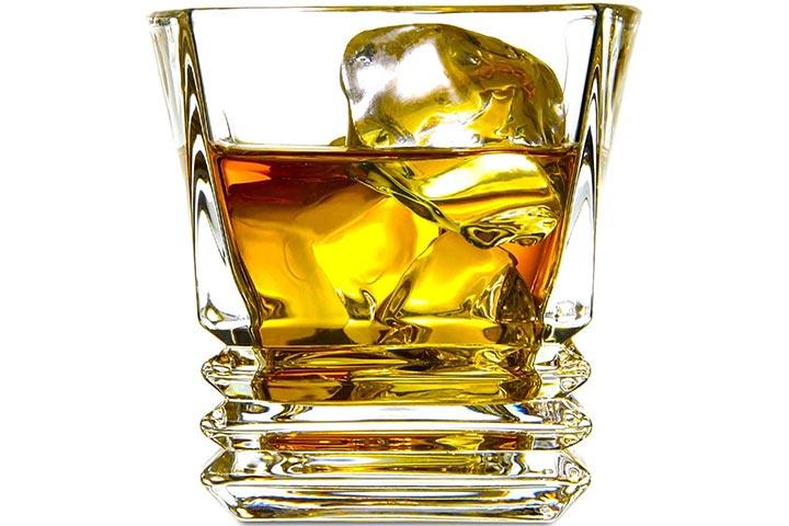 ELIDOMC Premium Whiskey Glasses, Set Of 4
