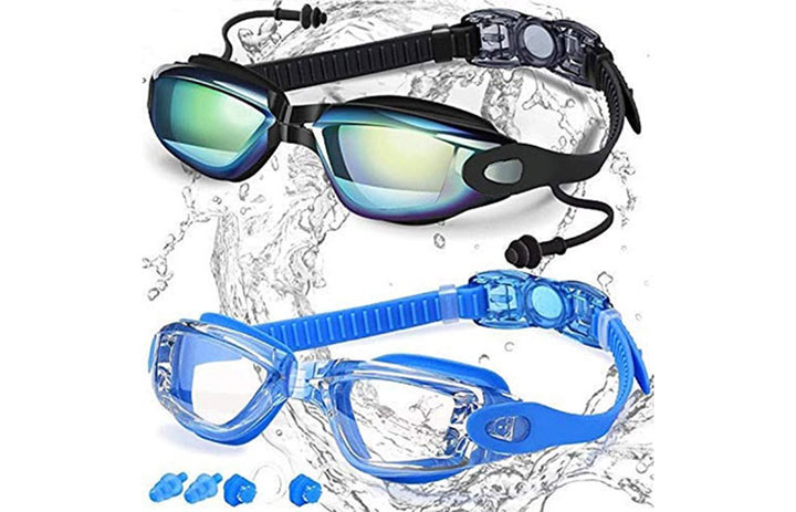 Elimoons Swim Goggles for Men Women Kids Youth Adult, Swimming Goggles