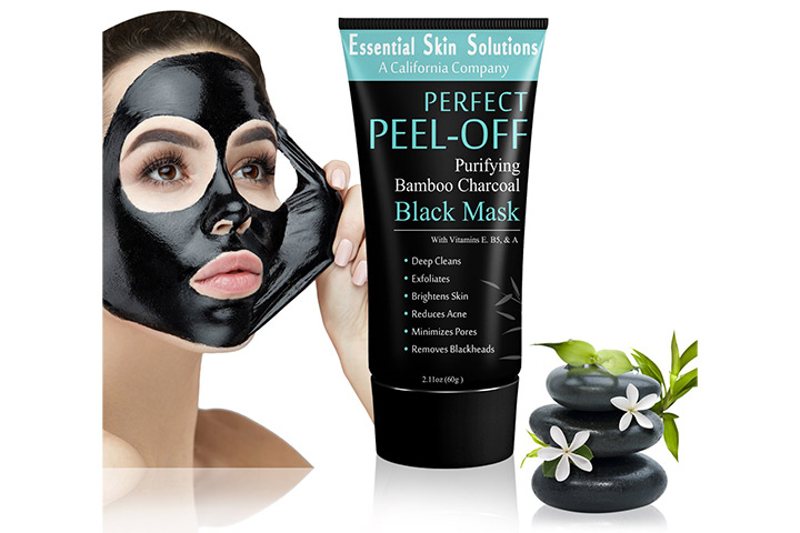 Essential Skin Solutions Perfect Peel-Off Purifying Bamboo Charcoal Black Mask
