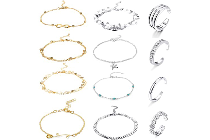 Funrun Jewelry 12PCS Anklet