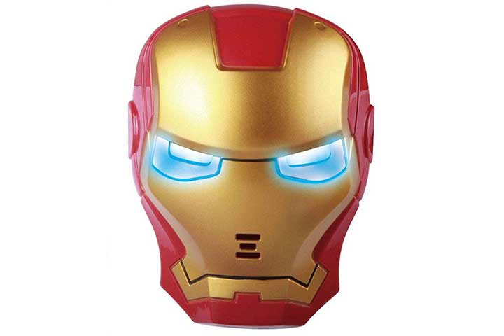 Halo Nation Superhero The Avengers Costume LED Light Eye Mask - Ironman Mask