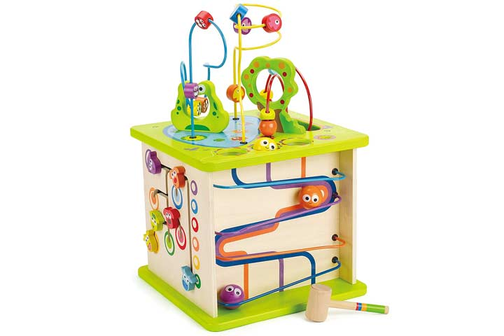 Hape Country Critters Wooden Activity Cube