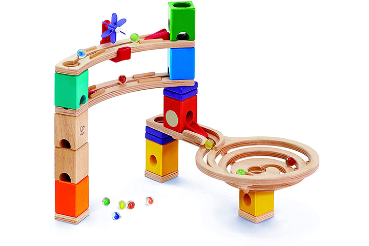 Hape Quadrilla Race To Finish Marble Run