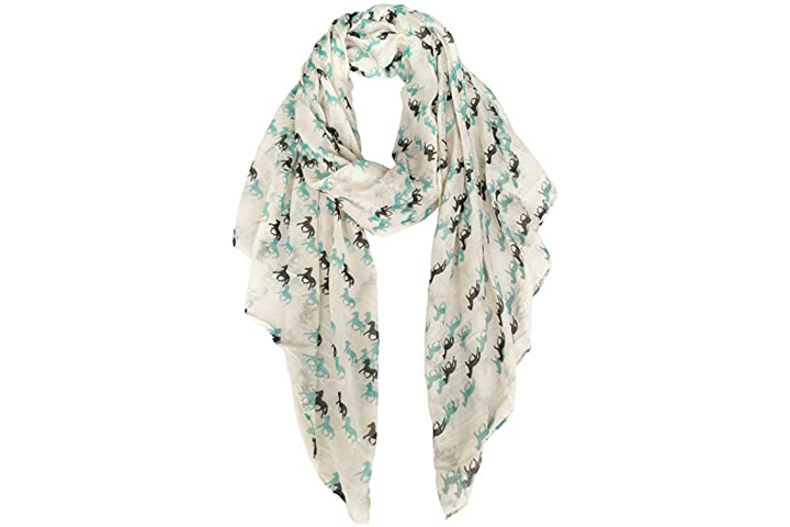 Horse Print Scarf For Women From E-Clover