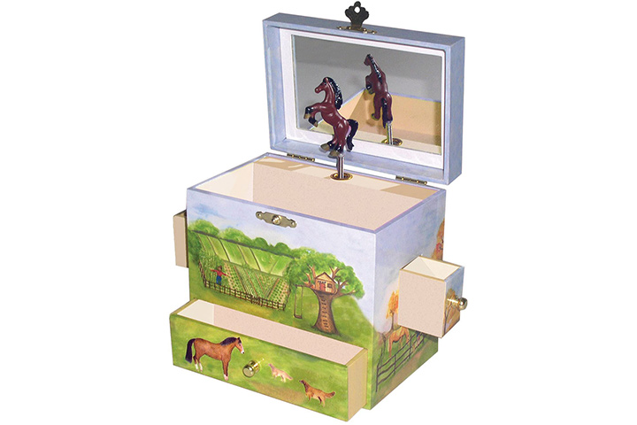 Horse Ranch Musical Jewelry Box From Enchantmints
