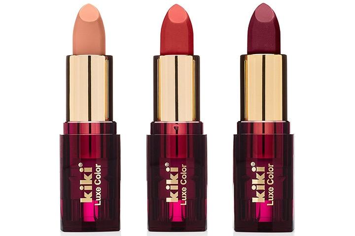 Kiki Luxe Color 3 PCS Matte Lipstick Set In