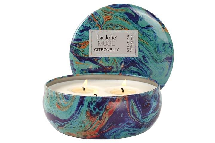 LA JOLIE MUSE Citronella Scented Candle