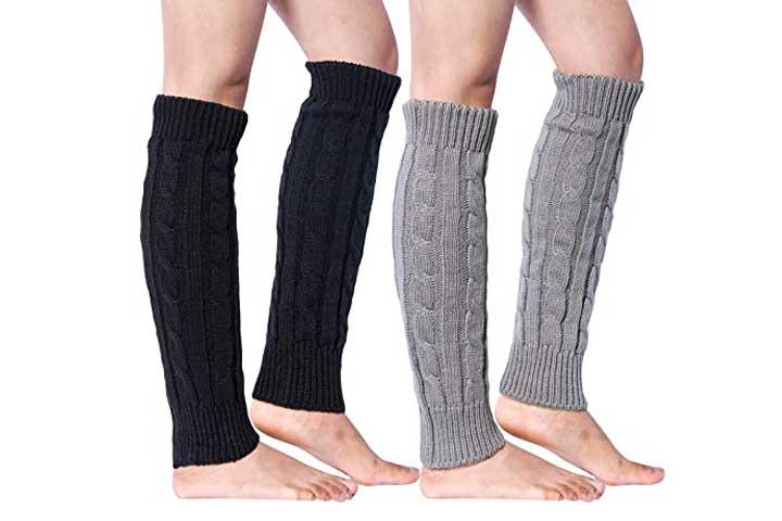 Loritta Long Knit Leg Warmers For Women