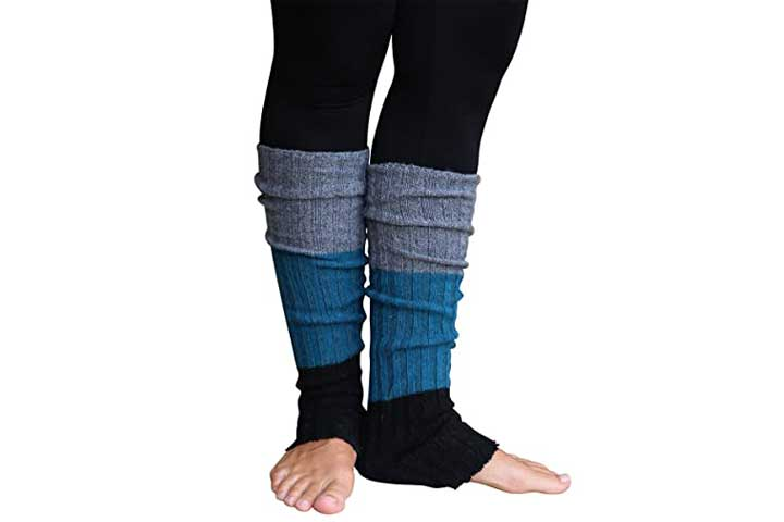 Lucky Love Striped, Multicolor Reversible Womens Leg Warmers