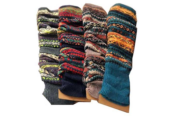 Lucky Staryuan Wool Knit Leg Warmers for Women